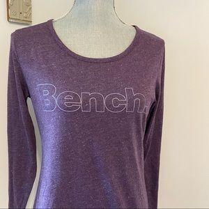 Bench long sleeve scoop neck tee purple